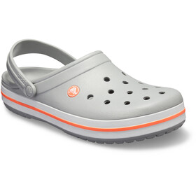 Crocs Crocband Clogs Unisex Light Grey/Bright Coral